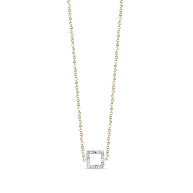 Swoonery-Mini Diamond Square Necklace