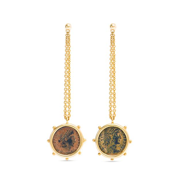 Swoonery-Empires Ancient Bronze Coin Earrings