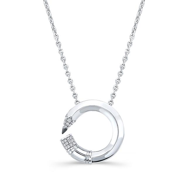 Swoonery-Large Round Pencil Expression Necklace