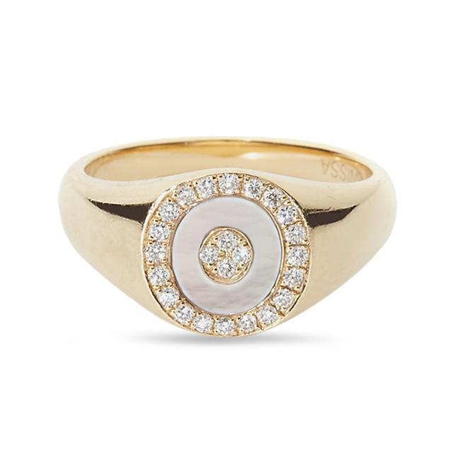 Swoonery-Mother of Pearl Douce Cavalcade Signet Ring