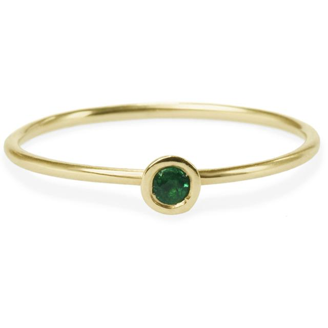 Swoonery-EMERALD FRIENDSHIP RING