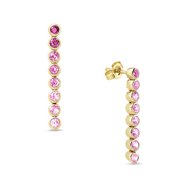 Swoonery-Pink 8 Drop Earrings