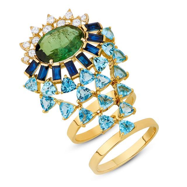 Swoonery-Magic Ring - Green Toumaline