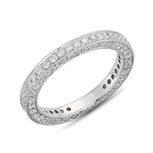 Swoonery-Three Sided Pave Band