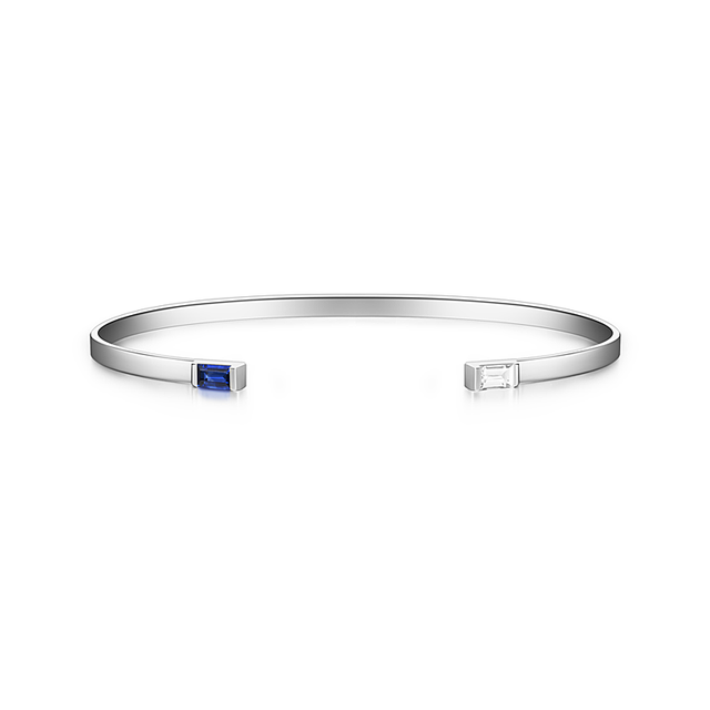 Swoonery-Gaia Cuff With Sapphire Detail