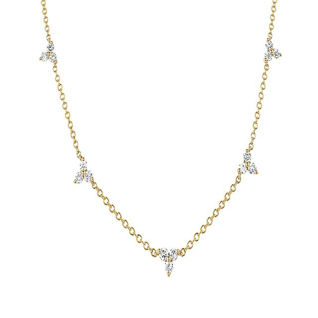 Swoonery-Diamond 5 Trio Necklace