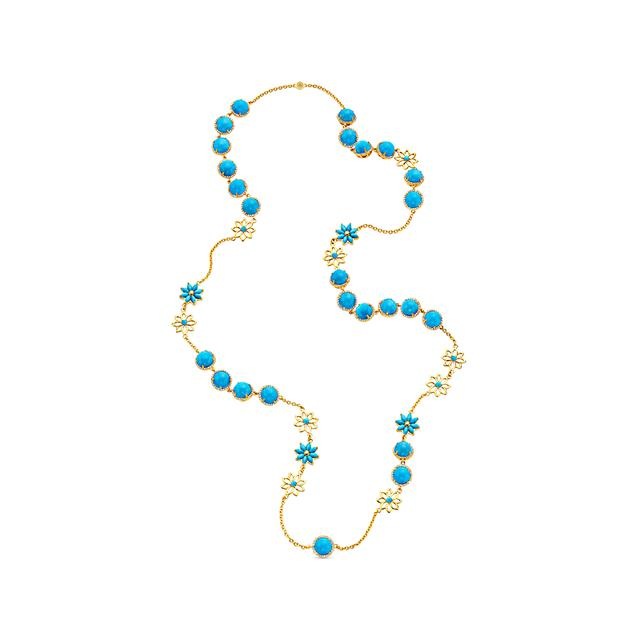 Swoonery-20K Turquoise Station Necklace