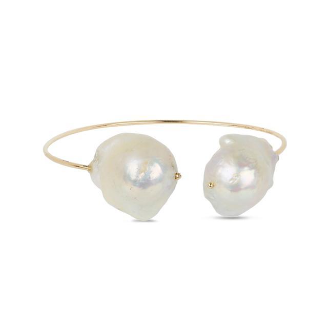 Swoonery-Pearl Cuff Bracelet