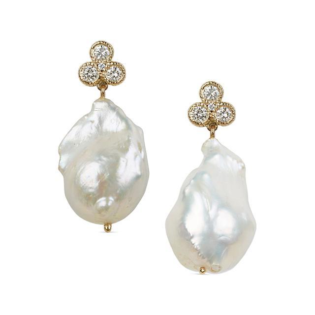 Swoonery-Nirvana Pearl Earrings