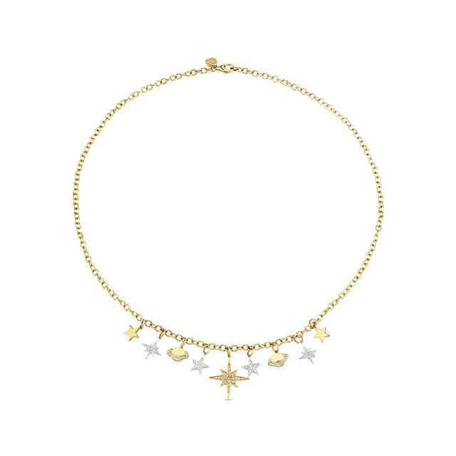 Swoonery-Celestial Fringe Charm Necklace