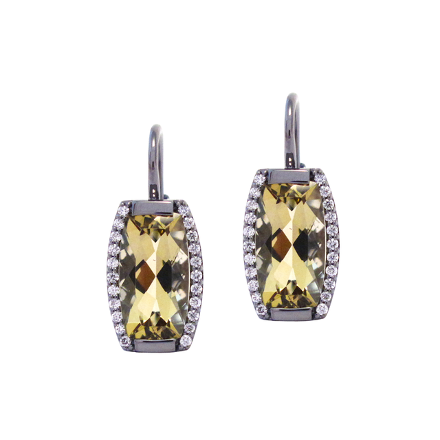 Swoonery-Tonneau Drop Earrings