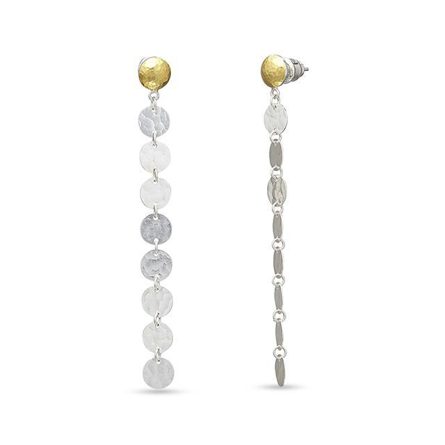 Swoonery-Lush Long Linear Dangle Sterling Silver Earrings