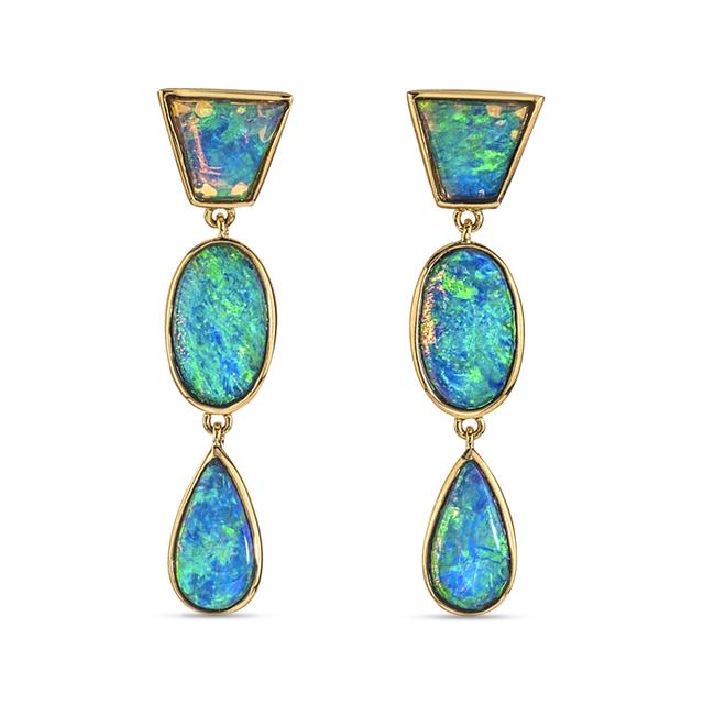 Swoonery-Classic Opal Earrings