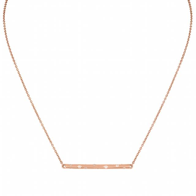 Swoonery-ROSE GOLD SMALL STICK NECKLACE