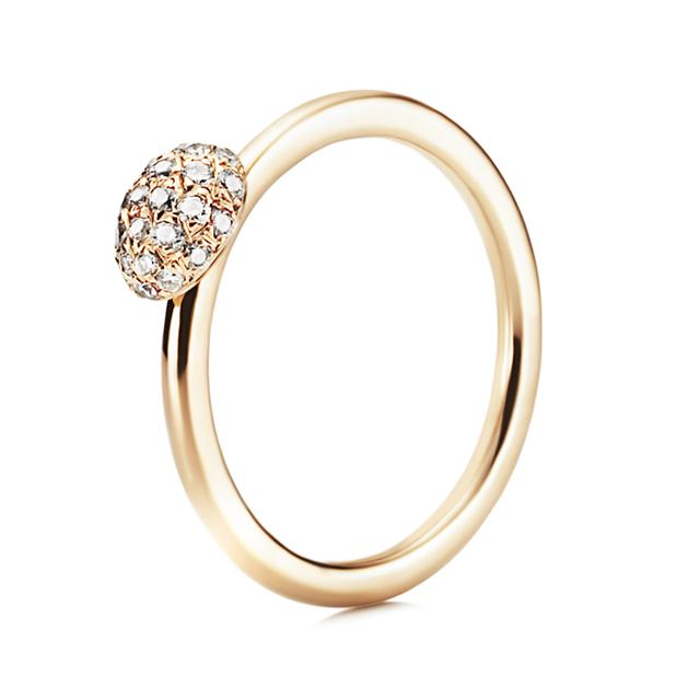 Swoonery-Diamond Love Bead Ring