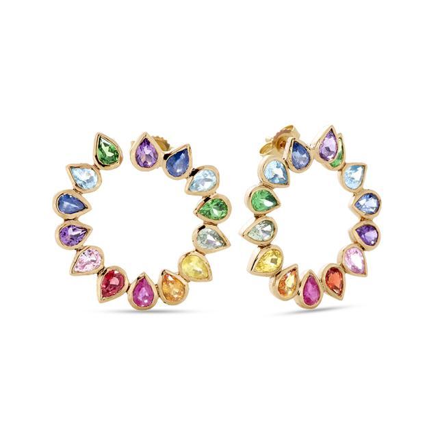 Swoonery-Petal Loop Earrings