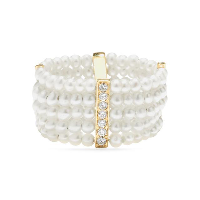 Swoonery-Pearl rare mini ring