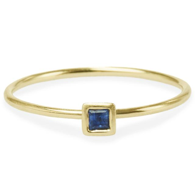 Swoonery-SQUARE SAPPHIRE FRIENDSHIP RING