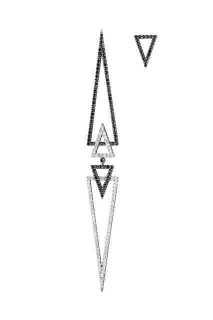 Swoonery-Artemis earring with mini triangle