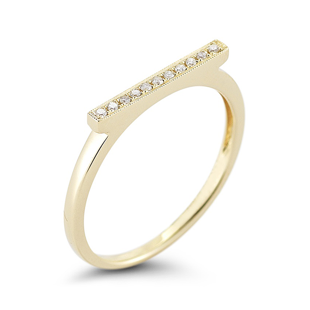 Swoonery-Sylvie Yellow Bar Ring