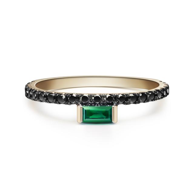 Swoonery-Nikita Emerald Ring