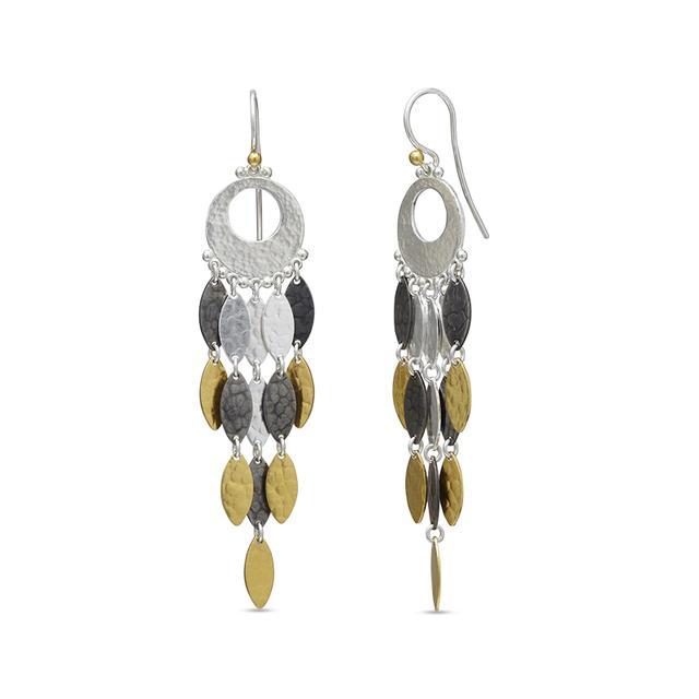 Swoonery-Willow Chandelier Sterling Silver Earrings