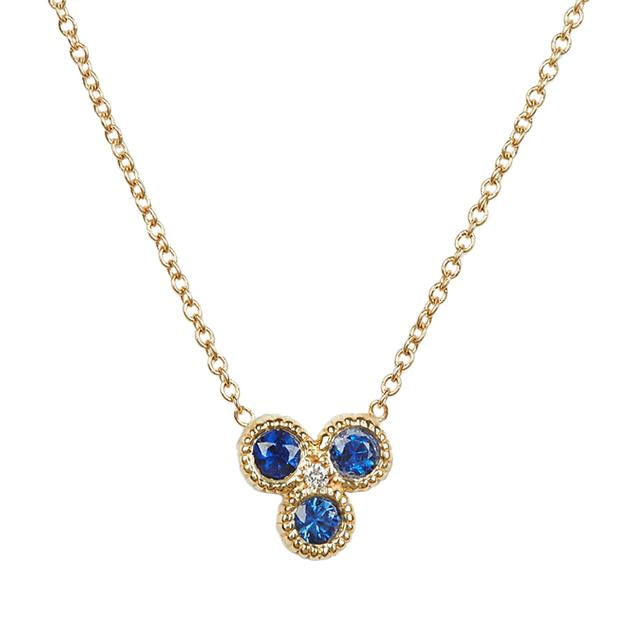 Swoonery-Nirvana Necklace Sapphire
