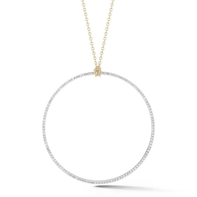 Swoonery-Large Diamond Circle Pendant