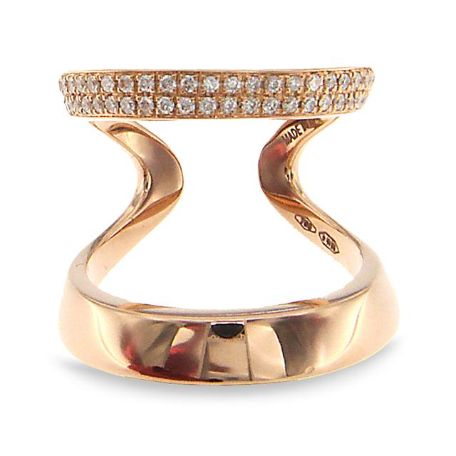 Swoonery-Rose Gold Double Two Band Ring