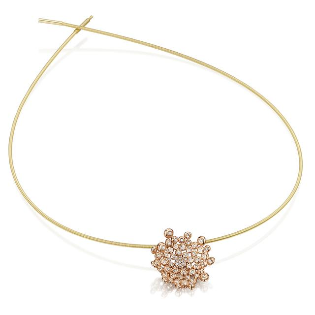 Swoonery-Coalescence Diamond Rose Gold Necklet