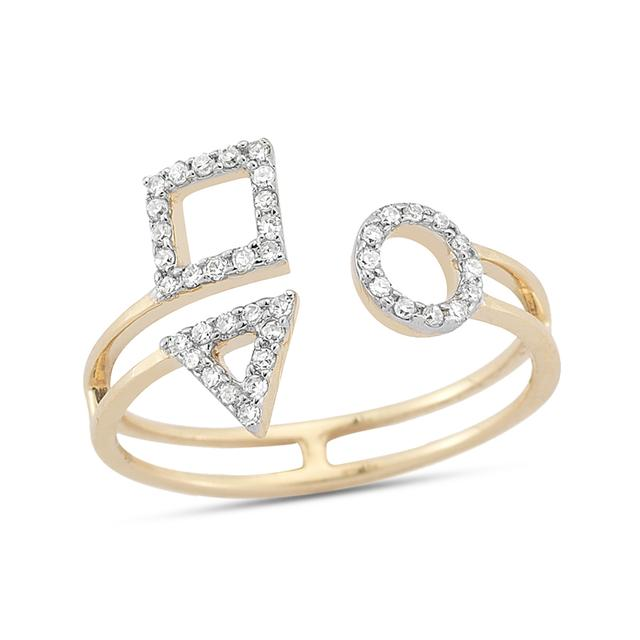 Swoonery-Trio of Shapes Ring
