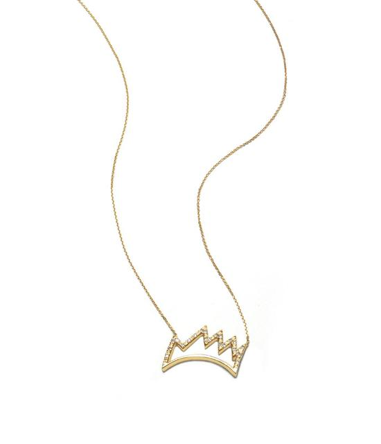 Swoonery-Half Crown Necklace